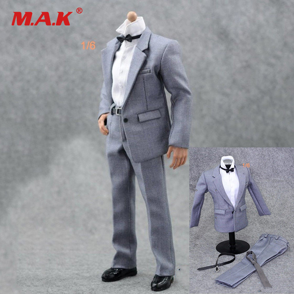 1/6 Scale Gray Male Suit Set Clothes for 12 inches Action Figure кпб d 72