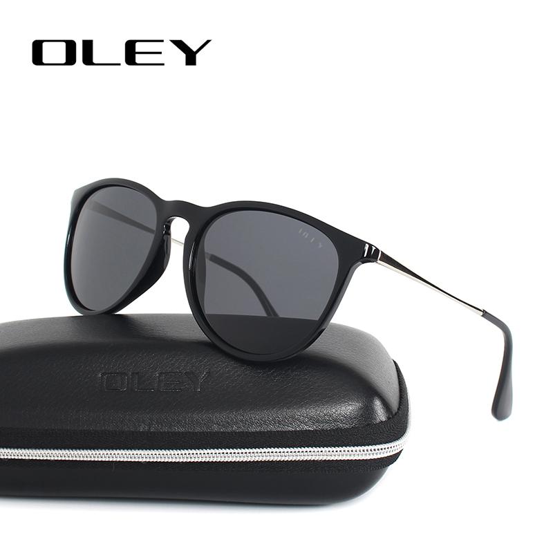 OLEY Cat Eye Sunglasses Կանանց բևեռացված կլոր արևի ակնոցներ Ապրանքանիշի դիզայներ Վարորդի ստվերներ gafas de sol mujer zonnebril dames Y4171