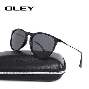 Женские солнцезащитные очки OLEY Cat Eye, брендовые дизайнерские поляризационные очки с круглыми линзами для вождения, Y4171