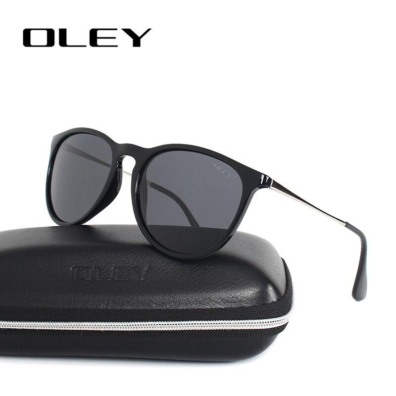 OLEY Cat Eye lunettes de soleil femmes polarisées rondes lunettes de soleil marque designer pilote nuances gafas de sol mujer zonnebril dames Y4171