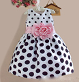 brand Christmas Super Flower summer dresses for party and wedding Dot print Princess baby Dress Fashion girl Clothing