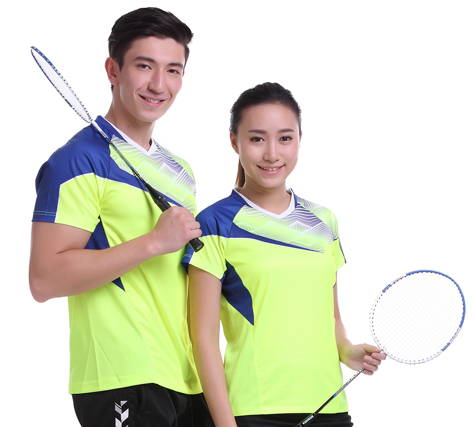 New Sportswear Quick Dry breathable badminton shirt , Women / Men table tennis shirt clothes short sleeve T Shirts