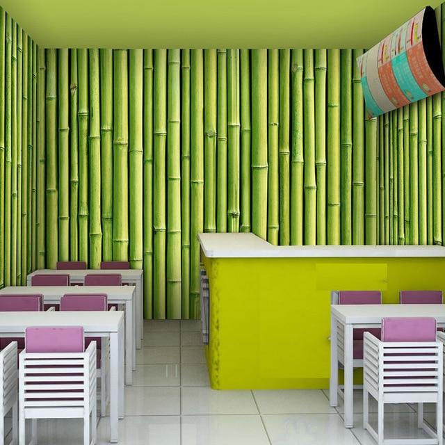 Custom Photo Wallpaper Large Murals Bamboo Garden Ktv Bar Restaurant Coffee Mural