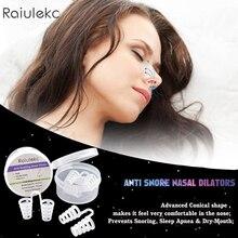 Anti Snore Apnea Nose Clip Anti-Snoring Breathe Aid 4Pcs/Box
