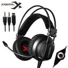 цены XIBERIA V10 PC Gamer Gaming Headset Casque with Microphone LED Lights Stereo Heavy Bass Game Headphones for Computer Game
