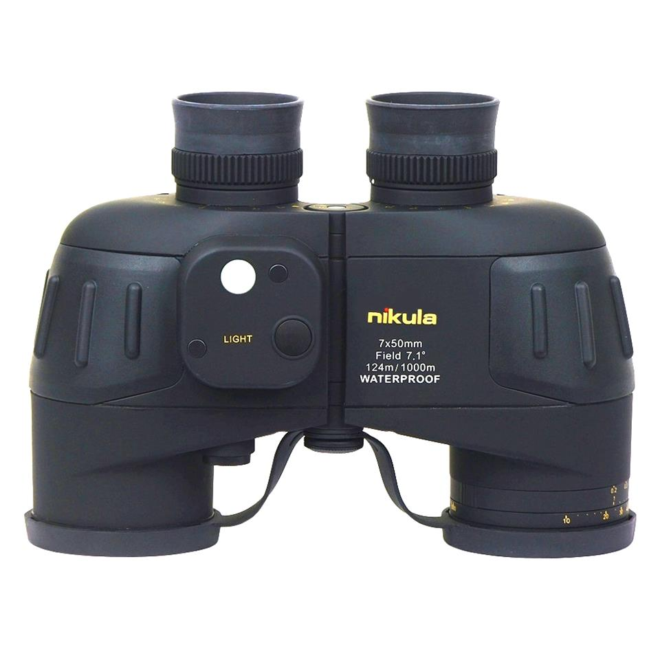 Nikula 7x50 W18 Military Powerful Binoculars Rangefinder Night Vision Outdoor Navy Telescope Rangefinder And Compass Waterproof in Monocular Binoculars from Sports Entertainment