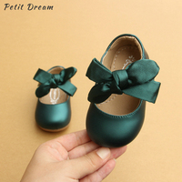 Petit Dream 2019 Summer Autumn Baby Girls Shoes 3 Colors Children Shoes Soft Soles Princess Bow Baby Toddler Girls Shoes