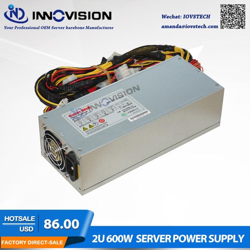 High efficiency 2U 600W server power supply psu