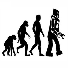 """""""Robot Evolution"""" Stickers (13 x 10.4 cm) – 2 Colors"""