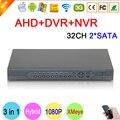 HI3531A 32CH 32 Canal 2 SATA 1080 P CCTV Cámara 3 en 1 Coaxial Híbrida 1080N Recoder de Vigilancia IP NVR AHD DVR DEL Envío gratis