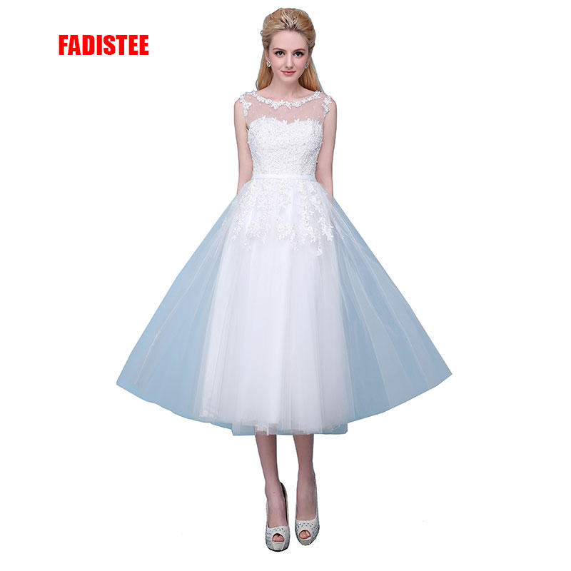 FADISTEE New arrival elegant wedding party Dresses lace Vestido de Festa beads appliques sexy see through back short style