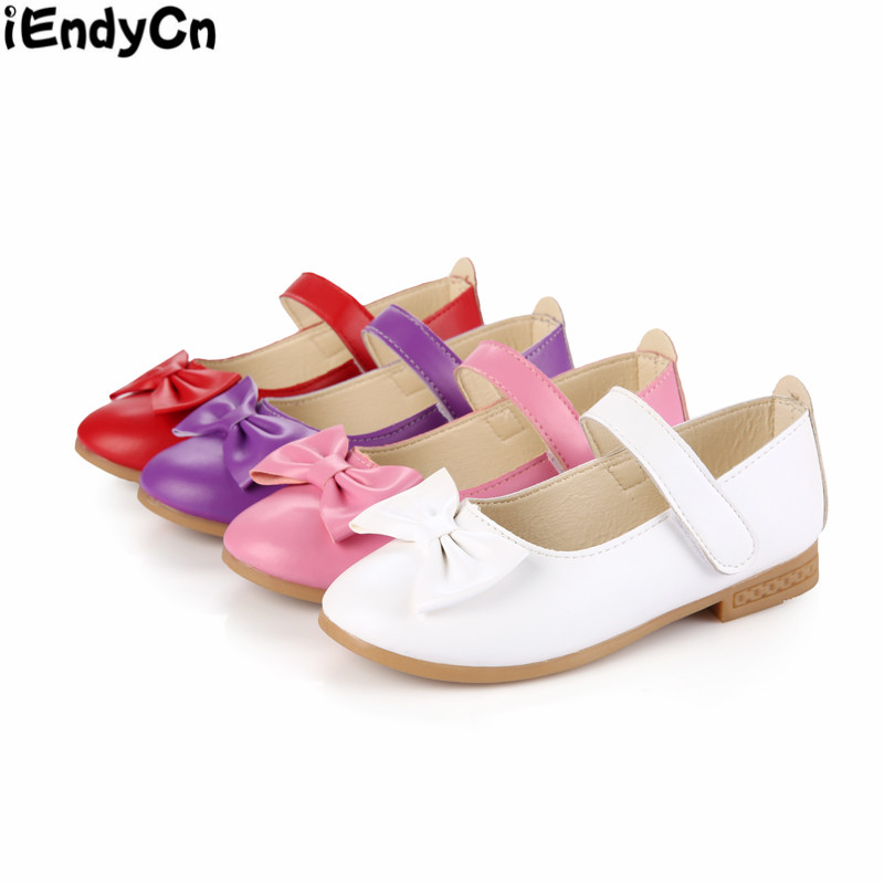 2018 New Girl Shoes Princess Shoes Spring And Autumn Korea Version Bow Children's Single Shoes TX001AC LXM369