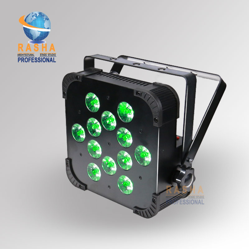 Cheapest Price Rasha 12*15W 5in1 RGBAW Non Wireless DMX LED Flat Par Light LED Slim Par Can For Event  DJ Party  DMX Stage Light 8x lot hot rasha quad 7 10w rgba rgbw 4in1 dmx512 led flat par light non wireless led par can for stage dj club party