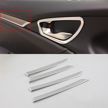 Car body kits  ABS  silver inner door trims cover For HONDA CIVIC 2017 car body kits front foglight trims car sticker for honda civic 2017 abs chrome