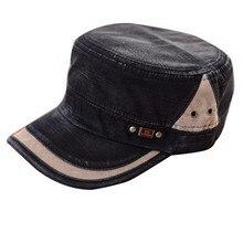 Casual Flat-top Canvas Baseball Cap Color Block Vintage Unisex Hat Man