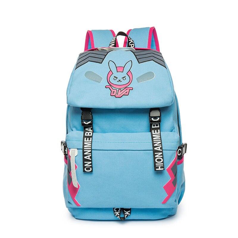 D Va DVA Backpack Genji OW Canvas Multifunction Outdoor Travelling Trip School Bag 32L 18W 44H