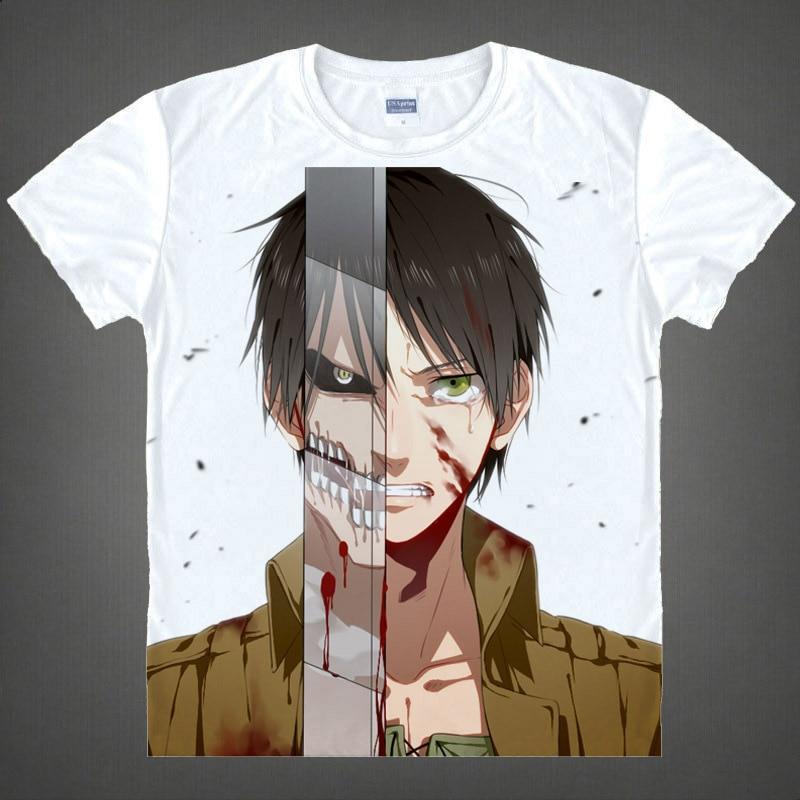 Attack on Titan T-shirt kawaii Japanese Anime Handmade Manga Shirt Cute Cartoon Eren Yeager Cosplay Tshirt 37186784874 tee 16
