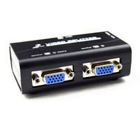 100 New 1 To 2 Ports VGA Video Splitter Duplicator 1 In 2 Out 250MHz Device