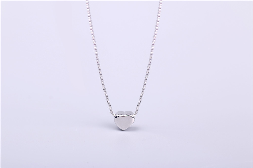 AAA 100% Silver 925 Necklace Shiny Heart Necklace Sterling Silver Necklaces & Pendants FREE SHIPPING Lahore