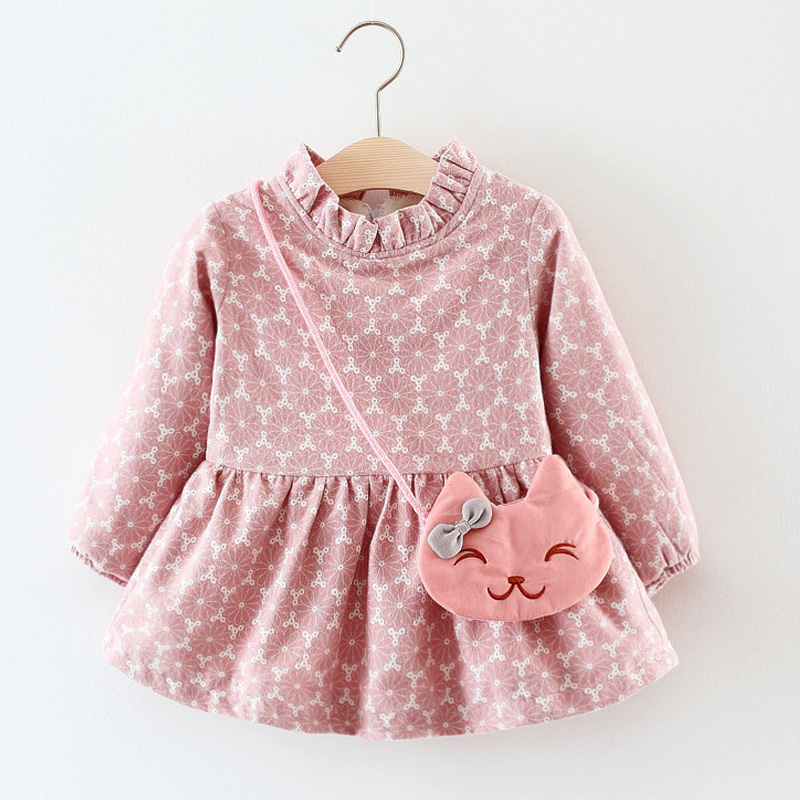 b962e5b68 Little Girls Winter Dresses Thick Warm Newborn Baby Girl Dresses ...