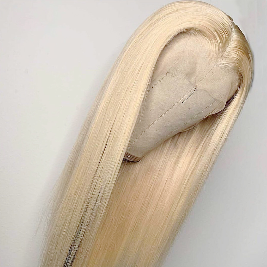 613 Blonde 13 4 Lace Front Wig Pre Plucked with Baby Hair Remy Brazilian Straight