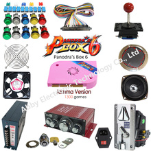 Arcade parts Bundles kit With Joystick Push button Micro switch 1Player 2 player  button ,pandora box 6 Game PCB to Build Up Arc цена