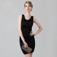Black Cheap Party font b Dresses b font Sheath Off the Shoulder Scoop Backless Zipper Knee