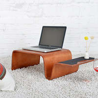 Mutifunctional Modern Bentwood Breakfast Magazine Table 3 Color Living Room Furniture Coffee Side End Table For Laptop, Computer