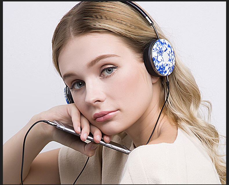 Liboer Headphones Wired On-ear Stereo Headphones for Mobile Phone Best Foldable Headset High Quality Rose Gold Headphone _21