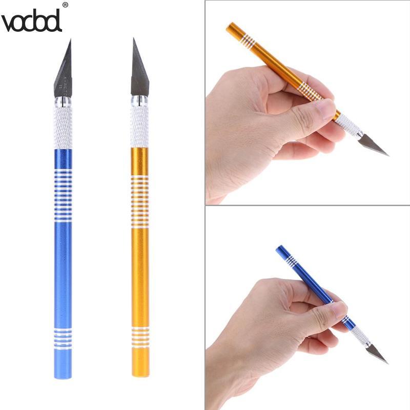 5 Blade 1 Set Metal Handle Scalpel Wood Carving Tool Sculpture Engraving Knife Cutter Craft Pen DIY Stationery Art Utility Knife