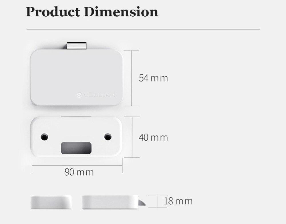 100% оригинальный Xiaomi MIjia YEELOCK умный ящик замок шкафа без ключа Bluetooth приложения разблокировка противоугонной безопасности файла детской безопасности