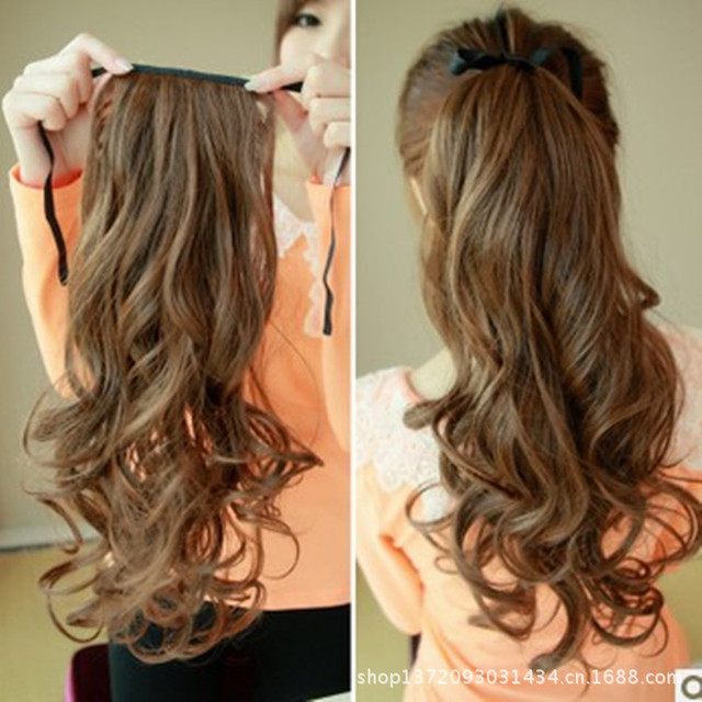 Roll Horsetail The Fake Ponytail Hairstyle Scroll Curly Wig Tablets