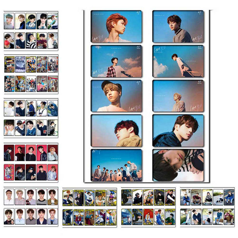 10pcs/set K-POP Stray Kids Sticky Lomo Cards New Fashion Crystal Card  Stickers For Fans Collection Gift