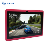 Yuntab 7inch T7 Android tablet PC Allwinner A33 Quad Core 512MB 8GB with Dual Camera 2200mAh battery (pink)