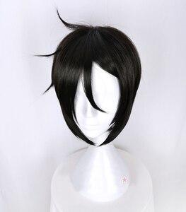Image 3 - Kuroshitsujiดำบัตเลอร์เซบาสเตียนMichaelisสั้นสีดำแต่งกายคอสเพลย์วิกผมทนความร้อนไฟเบอร์ผม+ฟรีวิกผมหมวก