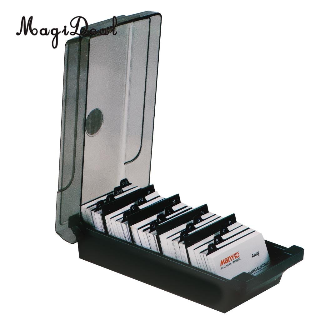 Large Capacity Business Card Holder Box Business Card File Card ...
