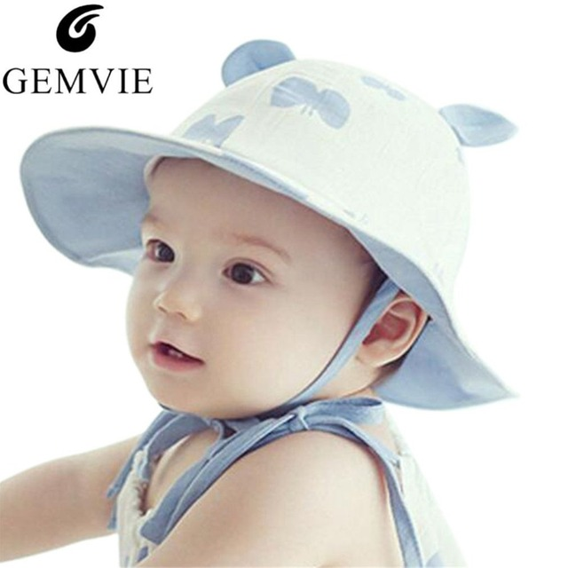 Cute Butterfly Ear Toddler Hat Infant Boy Girl Bucket Hat Cotton Beach Cap Summer  Outdoor Bucket Hats Photography Prop Baby Cap 8b406bceceff