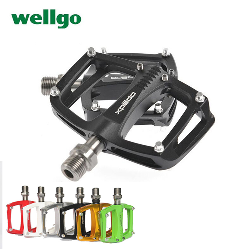 Wellgo Spd New Xpedo C260 Bearing Pocket Bike Sealed Aluminum Extruded Flat Road Bicycle Cycling Pedals 9/16