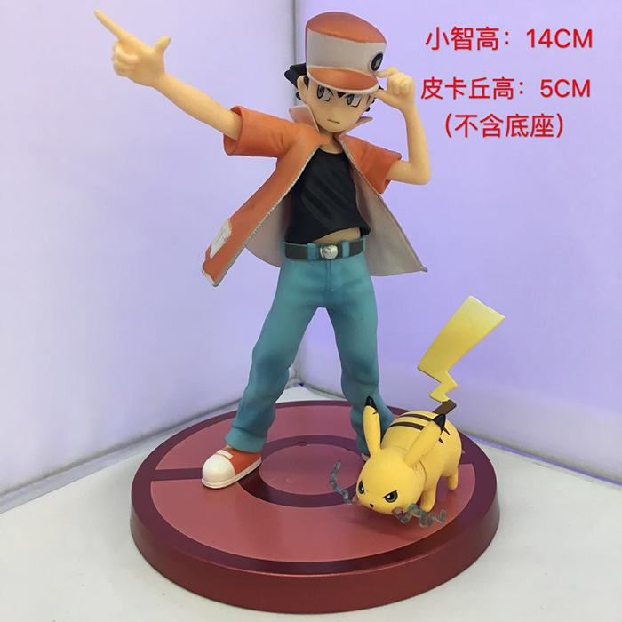 Free Shipping 5.5 Monster Anime Cartoon Ash Ketchum & Pikachu Vol.3 Boxed 14cm PVC Action Figure Collection Model Doll Toy Gift