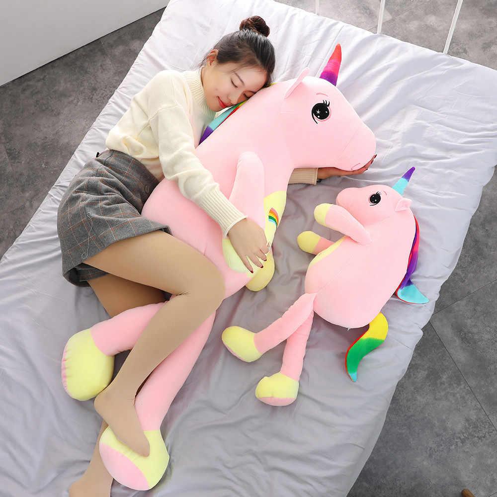 2019 Nova Grande Unicórnio Macio Toy Animal de Pelúcia Brinquedo de Pelúcia Menina Presente das Crianças Brinquedo Travesseiro Almofada Do Sofá Decoração Da Casa