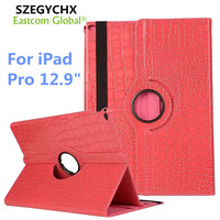 Tablet Cases For IPad Pro 360 Rotation PU Leather Crocodile Case For IPad Pro Smart Cover