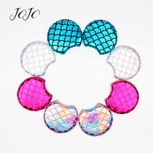 JOJO BOWS 10pcs Cloth Patches Fish Scale Mickey Ear Accessories For Needlework DIY Doll Material Handmade Craft Patchwork