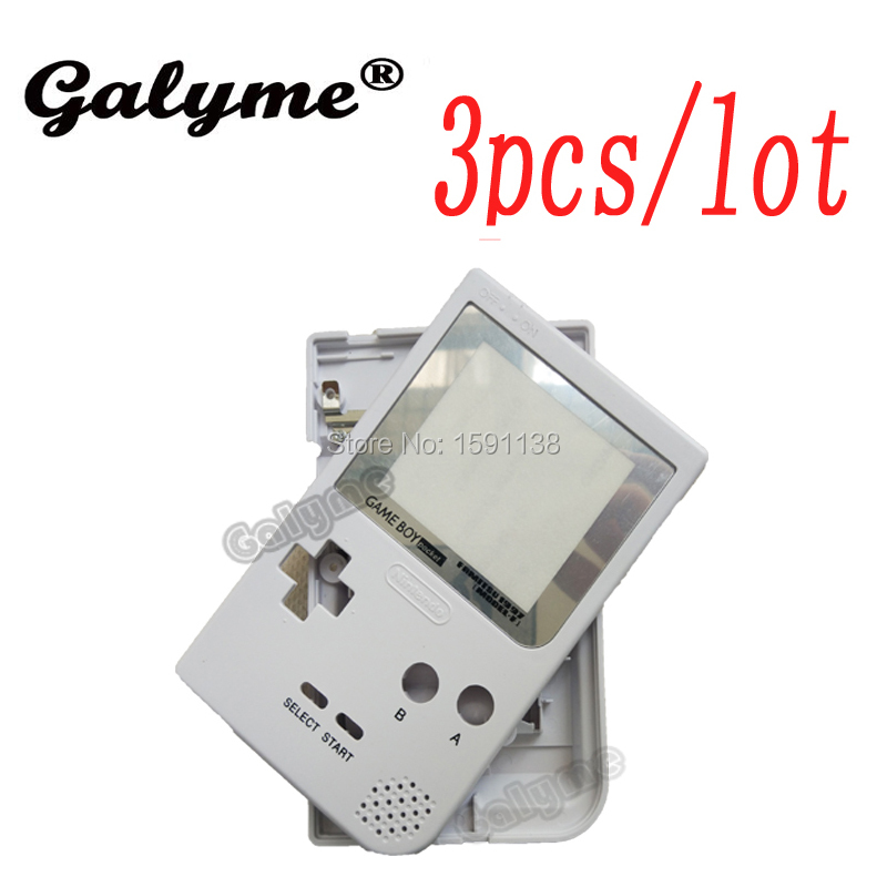 3pcs/lot Brand New White Color Plastic Full Housing Shell Fit GameboyGB Pocket GBP Game Console Case Cover Boy Advance Color
