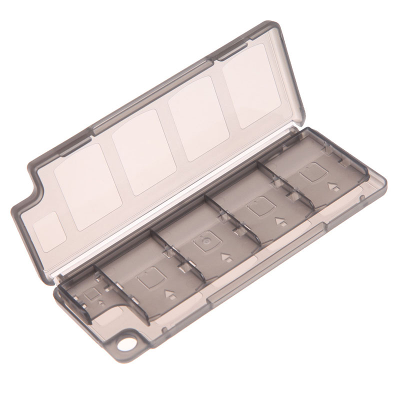 Portable 10 in1 Game <font><b>Memory</b></font> <font><b>Card</b></font> Storage Case Box Holder for <font><b>Sony</b></font> <font><b>PS</b></font> <font><b>Vita</b></font> game player10pcs Game <font><b>Cards</b></font> Black image