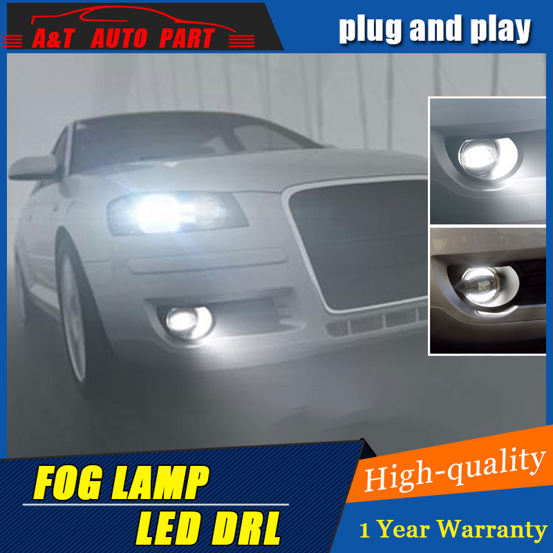 JGRT Car Styling Angel Eye Fog Lamp for Ford Taurus LED DRL Daytime Running Light High Low Beam Fog Automobile Accessories