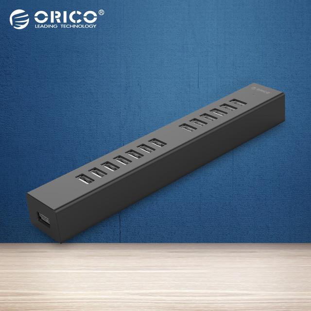 H1313-U2 ORICO 13 Puertos USB 2.0 HUB para MAC Portátil Perfectamente con 100 CM Cable de Datos-Negro/Blanco