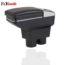 For Nissan Tiida 2005-2014 Car Armrest Box Center Storage With Cup Holder Ashtray Interior Accessories Parts Decoration