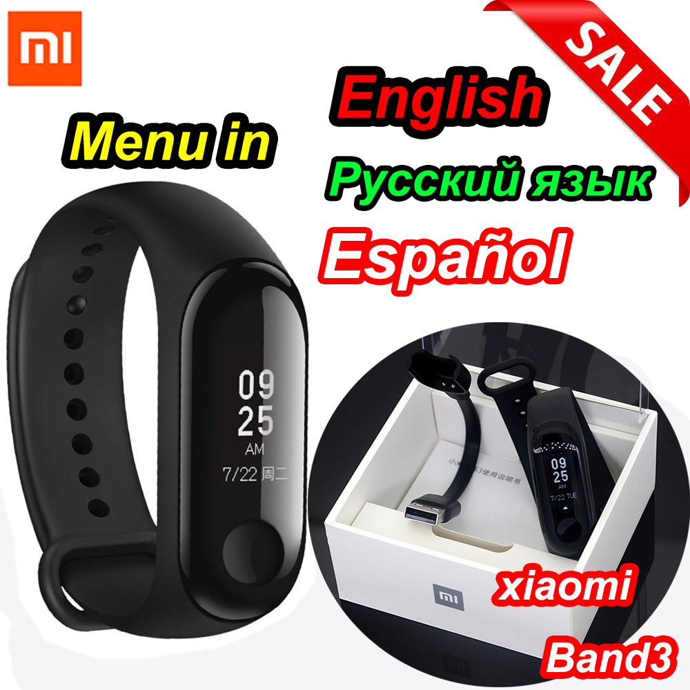 Xiao mi mi fascia 3/mi fascia 2 intelligente wristband bracciale Fitness Mi Big Band touch Screen Oled Messaggio frequenza Cardiaca Tempo Smartband
