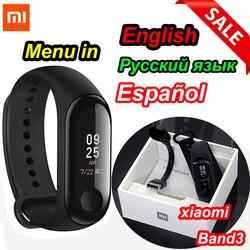 Xiaomi mi Band 3/mi band 2 умный Браслет фитнес-браслет mi Band большой сенсорный экран OLED частота сердечных сокращений сообщения Smartband