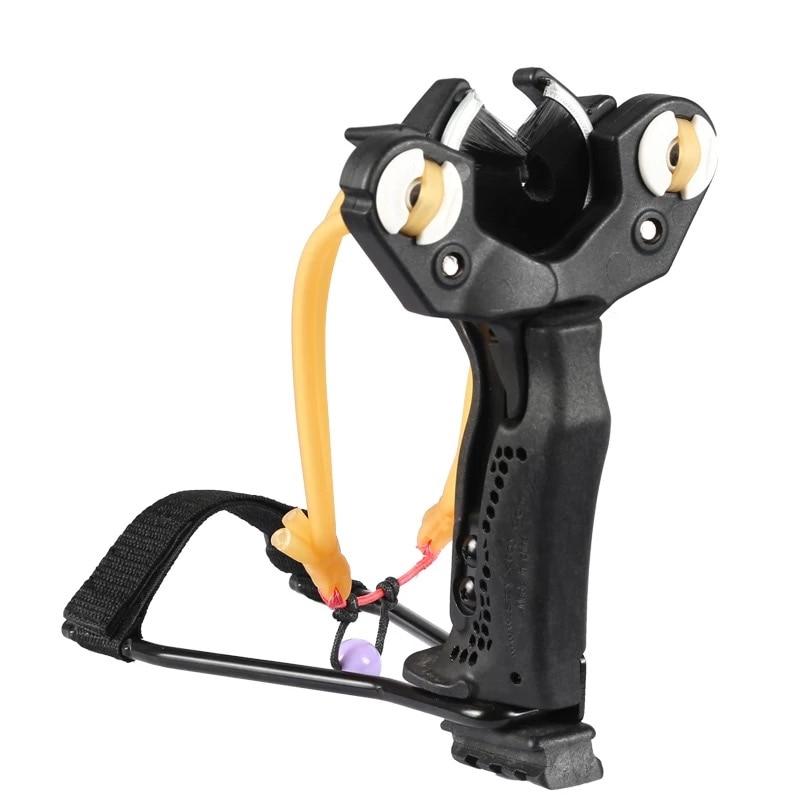 все цены на Powerful Hunting Archery Slingshot With Rubber Band Arrow cap kit fishing Catapult Professional Tactical Pocket Sling Shot set